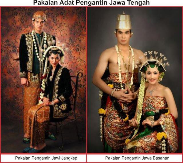gambar pakaian adat pengantin jawa tengah