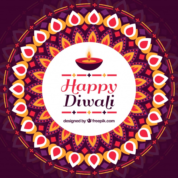 Decorative happy diwali decorative background Free Vector