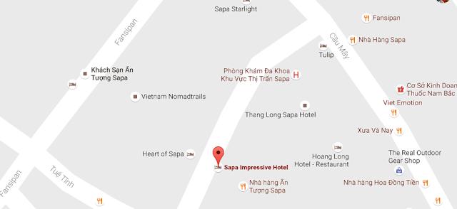 Vị trí khách sạn ấn tượng sapa