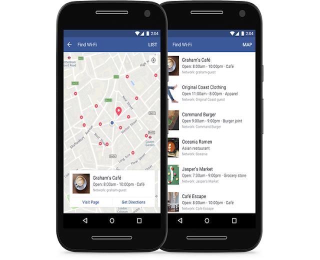 اليك كيف تحصل على رمز الواي فاي من خلال تطبيق فيسبوك !!