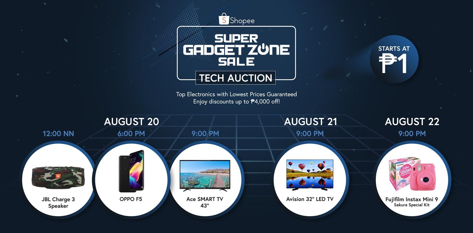 Shopee's Super Gadget Zone Sale Now Ongoing Until August 22