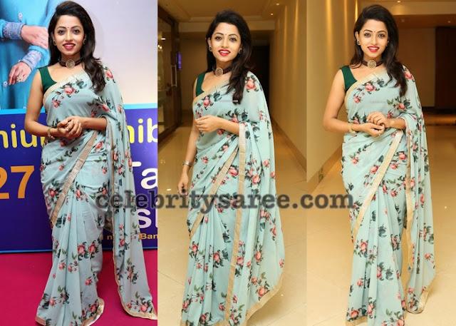 Navya Swamy Floral Saree