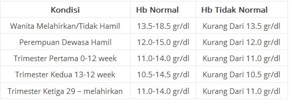 Bacaan Hb Normal dan Tidak Normal untuk Ibu Hamil