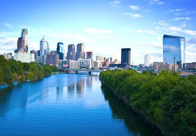 Waterfront Area in Downtown Philadelphia Pennsylvania