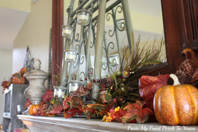 French -Country -Fall -Mantel- From My Front Porch To Yours