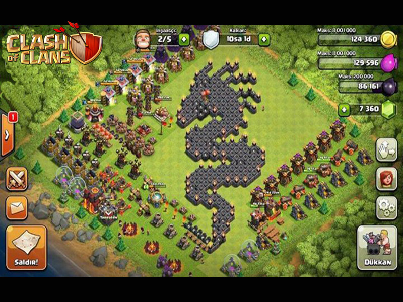 Desain Kreatif Base Dragon Clash Of Clans Wallpaper