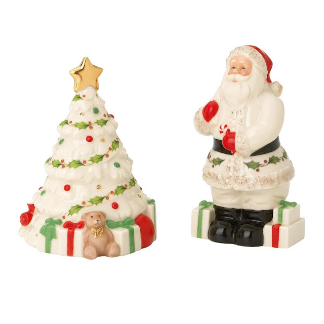 Lenox Holiday Santa Claus Sleigh with Toys Salt Pepper Shaker Christmas Set