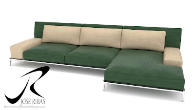 Sofa modelo DissenyProducte Verde