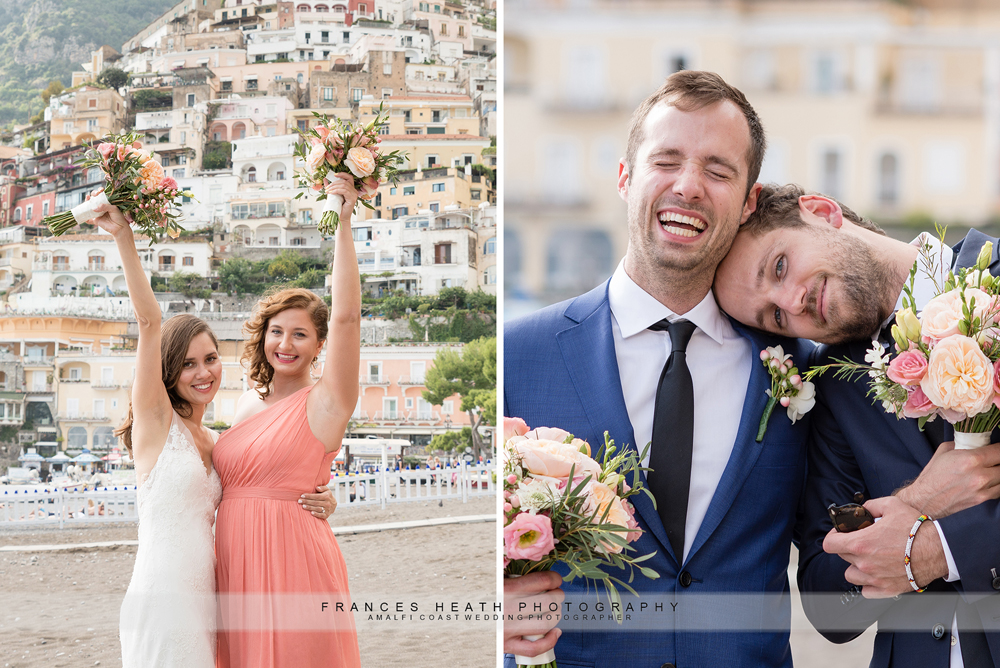 Bridal party in Positano