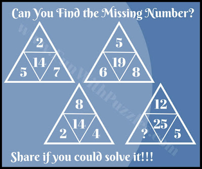 Easy math triangle IQ riddle