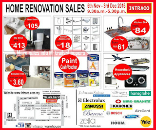 Intraco Warehouse Home Renovation Sale 2016