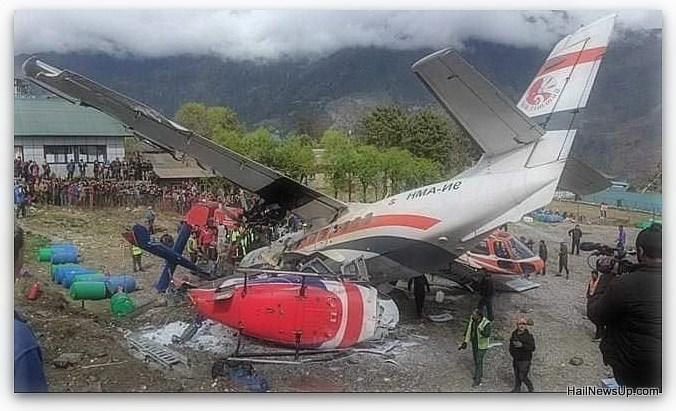 Plane crash, co-pilot and two policemen killed in the runway in Nepal