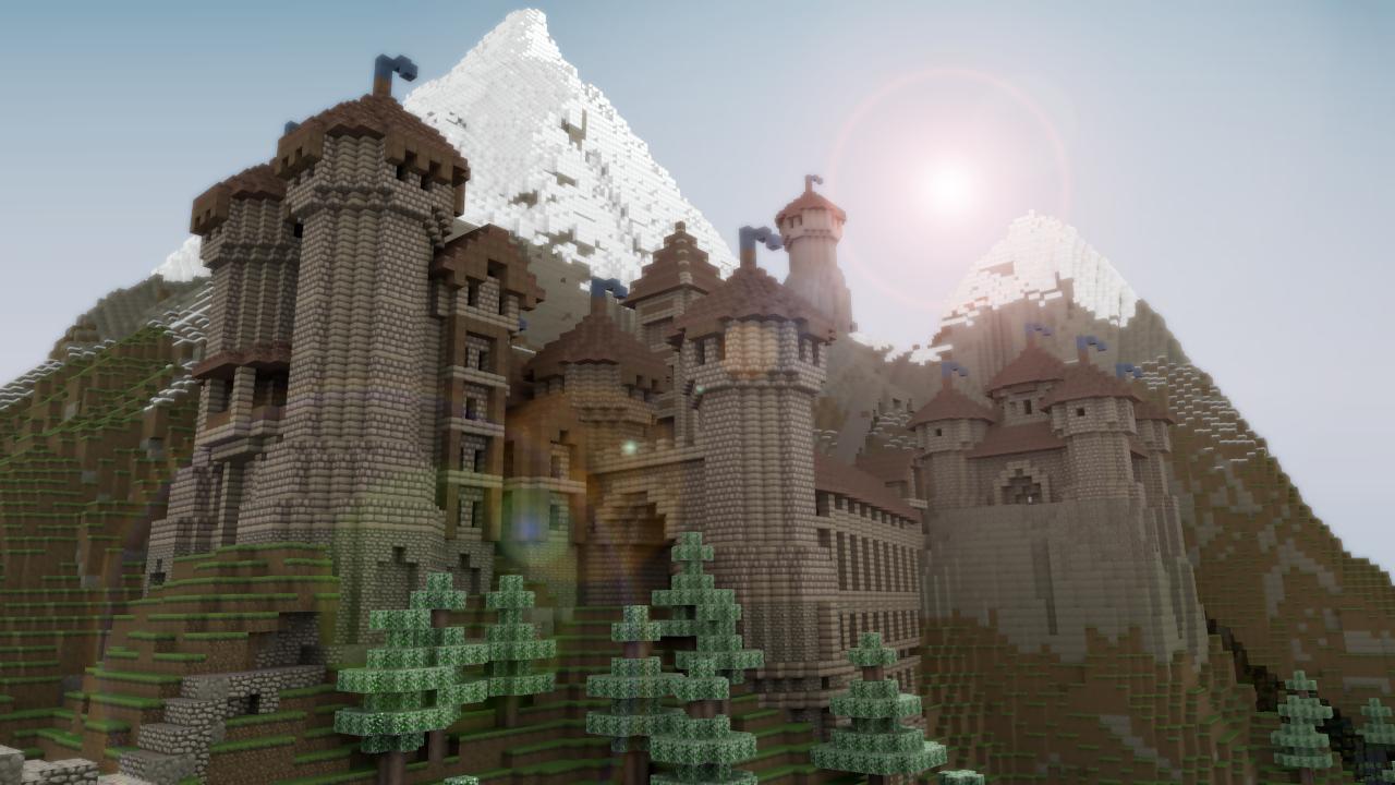 The Minecraft Castle: Beautiful Realistic Minecraft Castle