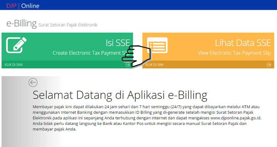 Cara Buat Kode Billing SSE Pajak - Surat Setoran