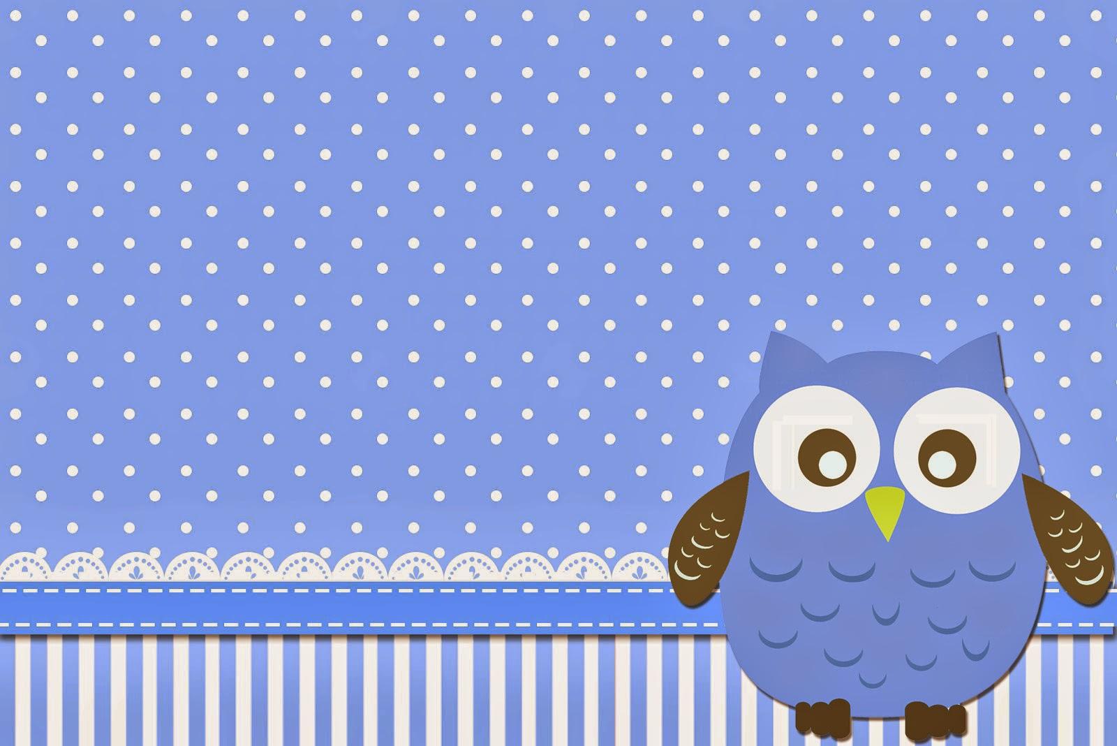 Blue owl free printable invitations oh my fiesta in - Cosas para fiestas de cumpleanos ...