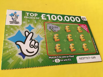 £1 Green National Lottery Scratch Card