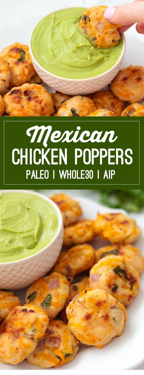 Mexican Chicken Poppers