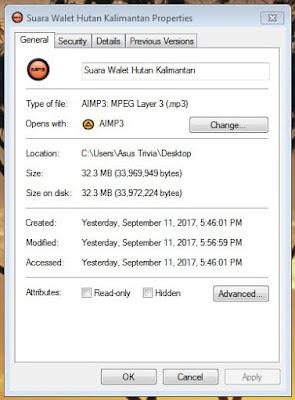Download Suara Walet Hutan Kalimantan Full Versi