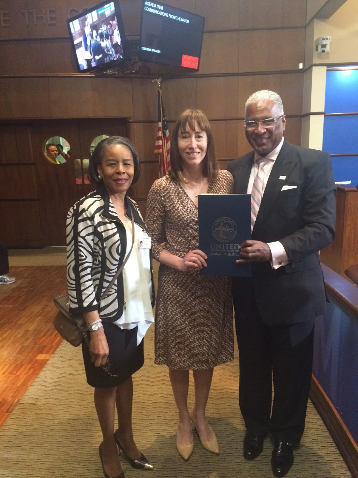 photo of Angela Hall, Regina Ammon, William Bell