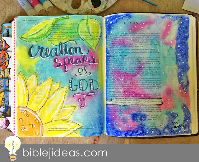 Sunflower and Galaxy for Romans 1:20