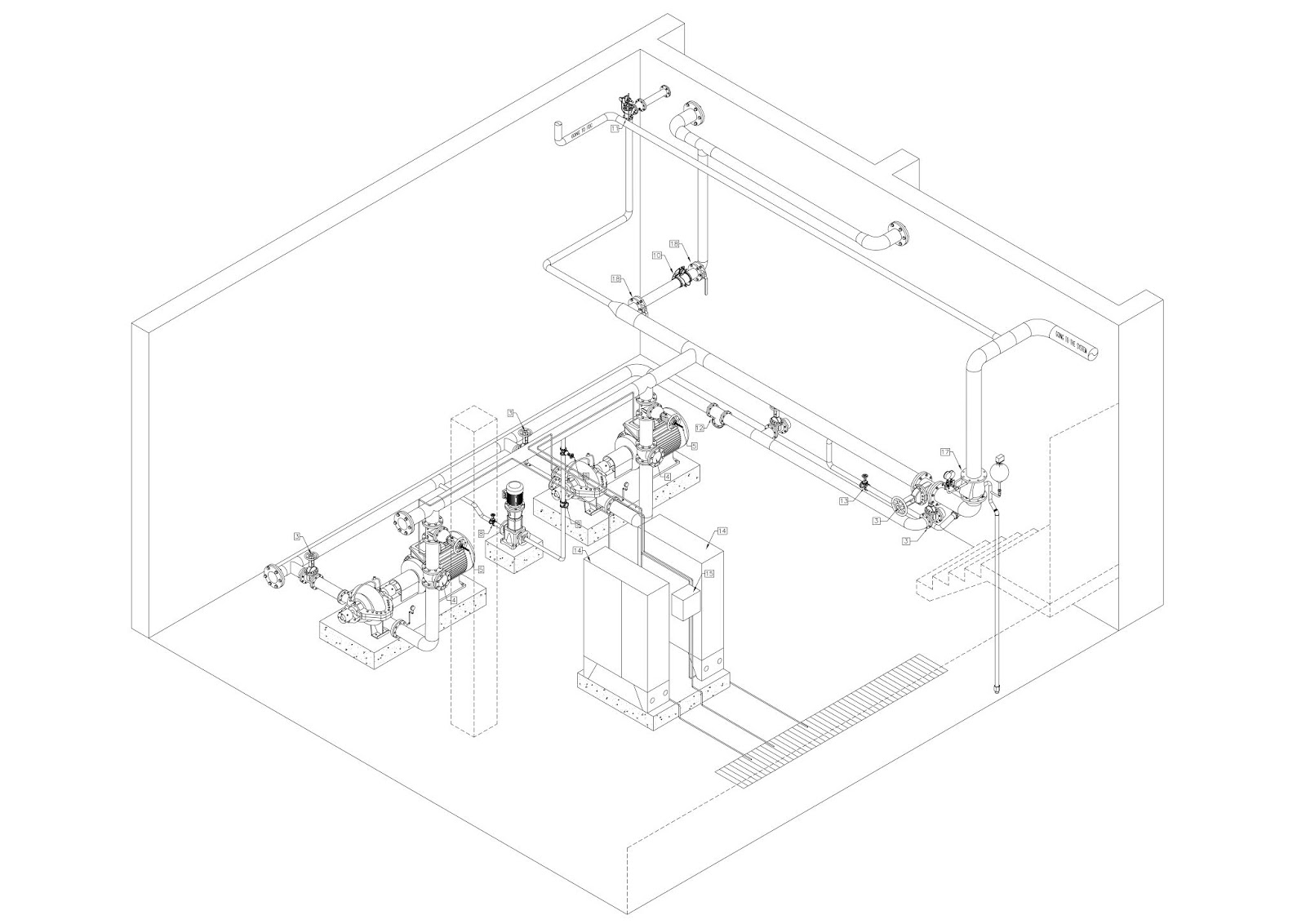 Fire Fighting Pump Room Drawings - CAD Needs