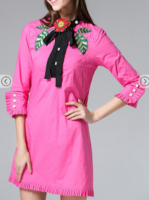 http://www.shein.com/Hot-Pink-Tie-Neck-Embroidered-Pleated-Dress-p-261706-cat-1885.html