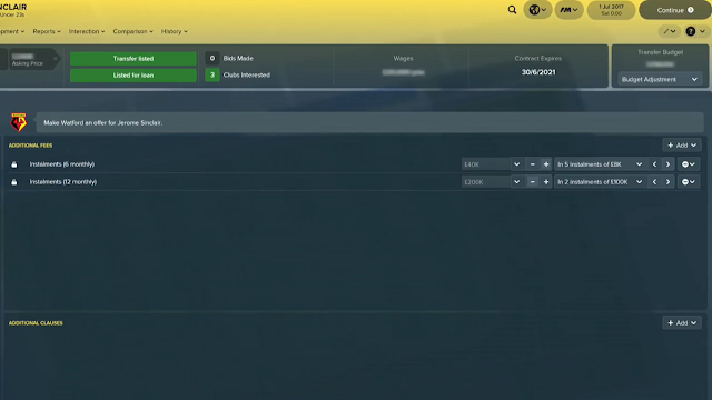 Instalment Payments in FM18