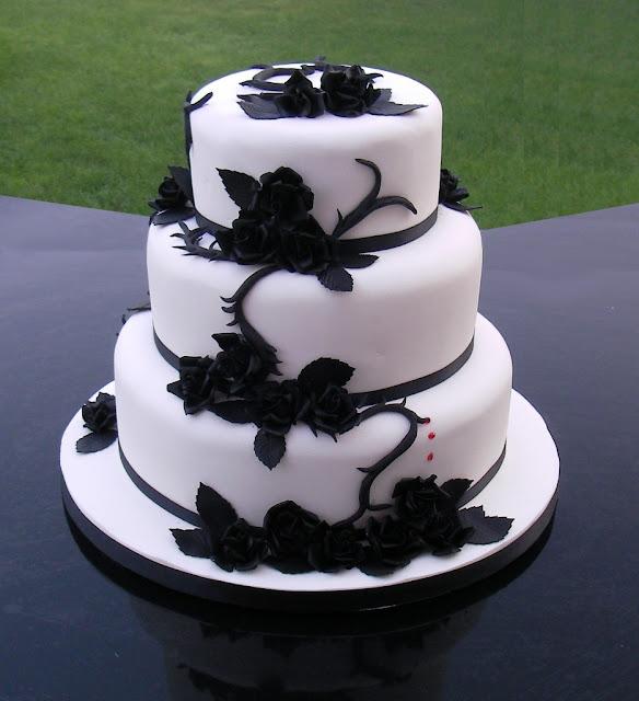 Amazing Black And White Wedding Cakes [40 Pic]