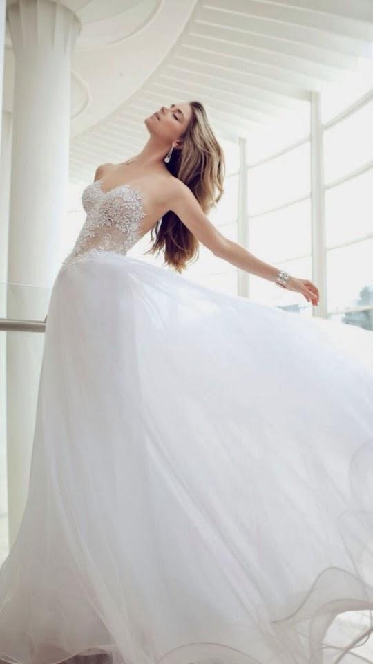 Sexy Summer Wedding Dress   Galaxy Note HD Wallpaper