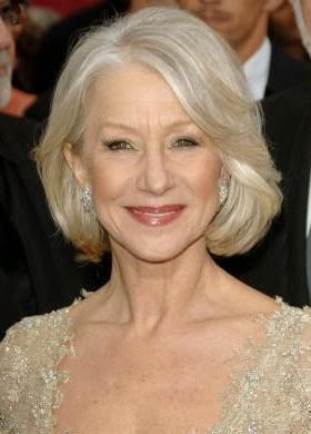 Helen Mirren A woman that is BEAUTIFUL at her age without trying to look like she's 30. She one of the last ones in hollywood whose face does not look plastic. Beautiful