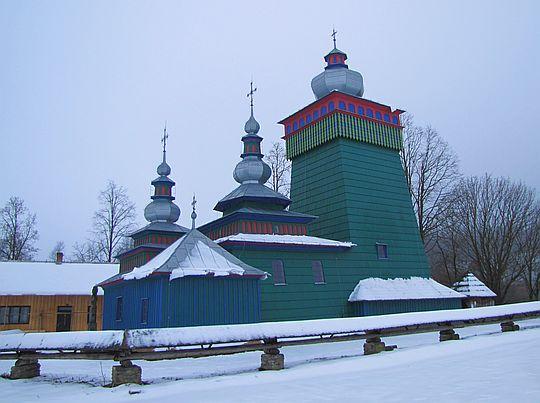 Cerkiew greckokatolicka pw. św. Michała Archanioła w Świątkowej Wielkiej z 1757 roku.