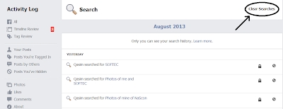 Facebook Search History