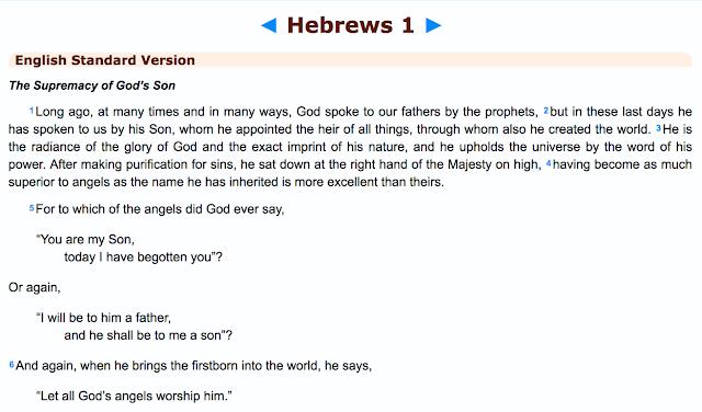 Hebrews 1: