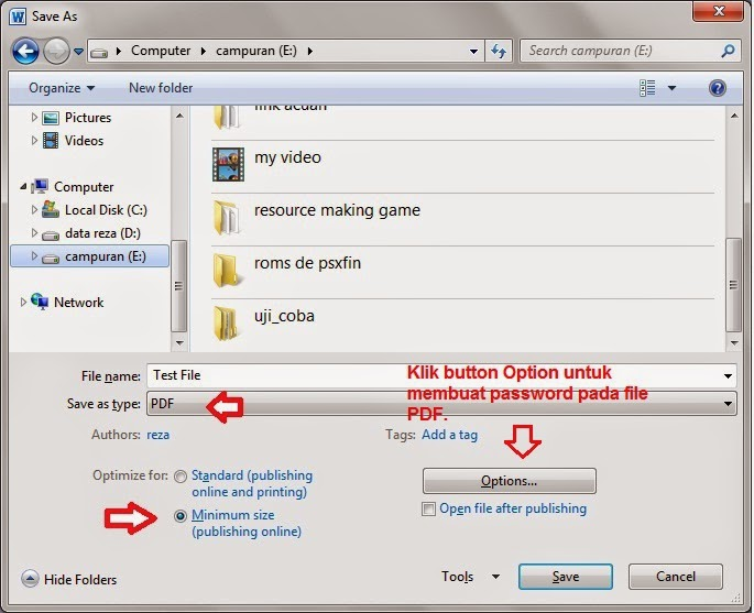 Cara mudah dan cepat membuat & mengunci file PDF
