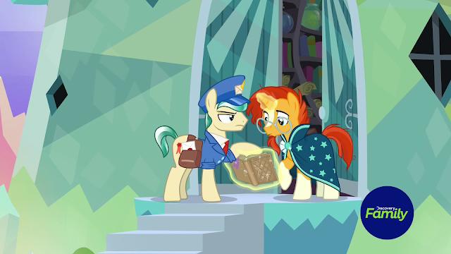 Sunburst is a mushroom to mail ponies.