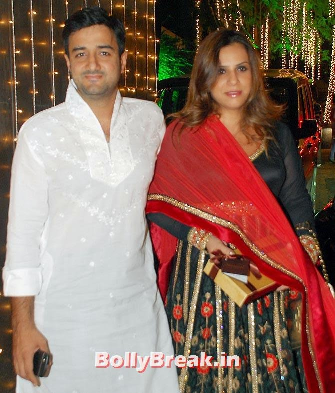 Siddharth Annad and his wife, Shilpa Shetty's Diwali Bash 2014 Photos