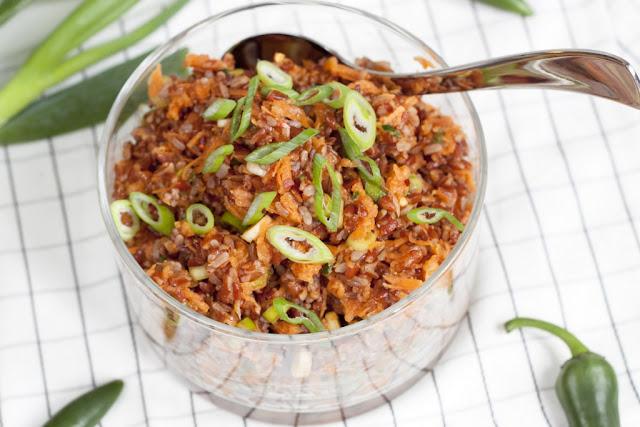 sałatka ryżowa z marchewką