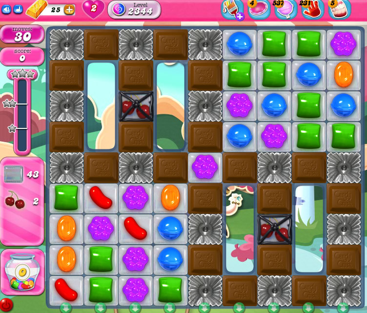 Candy Crush Saga level 2344