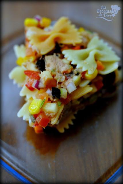 Ensalada de pasta atún y vegetales tererecetas 03