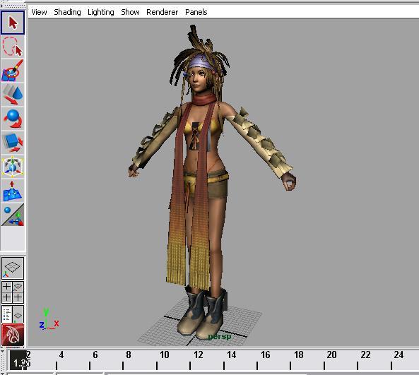 Final fantasy female rig | 3D ANIMATION