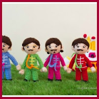 Beatles y submarino amarillo amigurumi