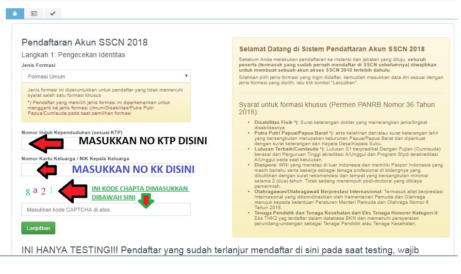 Cara cek No KTP NO NIK dan No KK Untuk Pendaftaran CPNS 2018