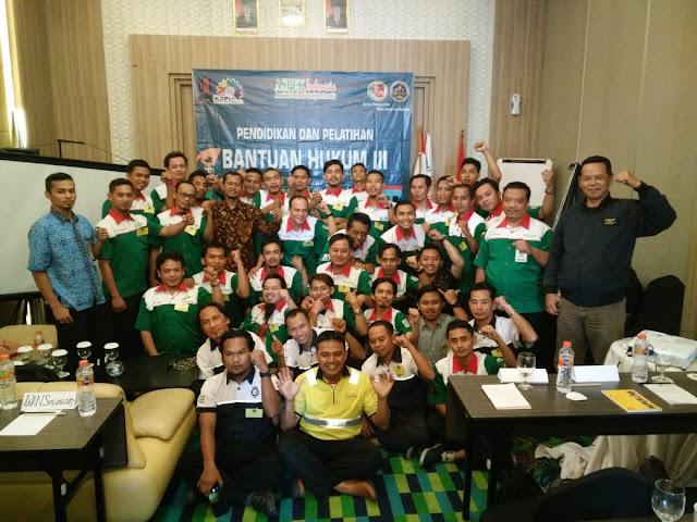 Peserta, Panitia, dan Perwakilan dari DPP ASPEK serta perwakilan SP SLI dalam acara DIKLAT BAHU 3