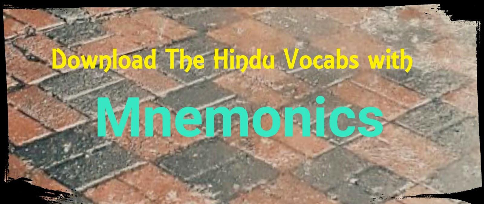 Download The Hindu Vocabs with Mnemonics PDF  - Sarkari Job