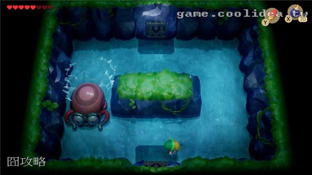 薩爾達 織夢島攻略 燈魚怪瀑布池迷宮10