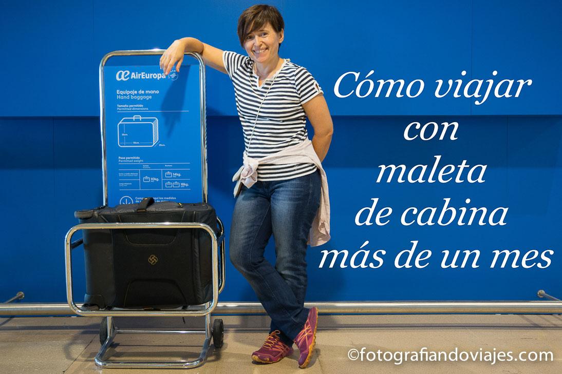 Viajar con maleta de cabina