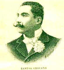 Imagen de José Santos Chocano de perfil