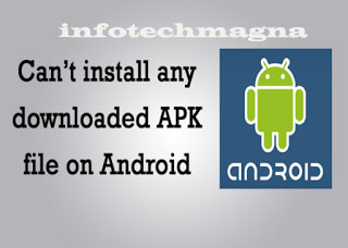 Android Apk File Not Installing