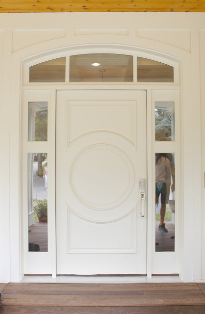 Home tour: Front door paint color