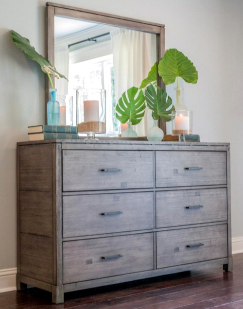 Coastal Styling of Dresser Top